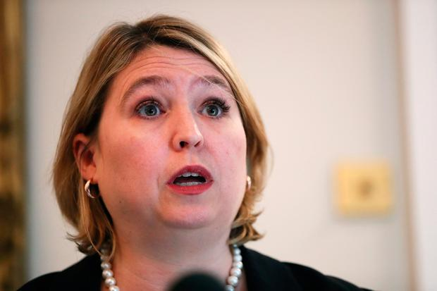 Northern Ireland Secretary Karen Bradley during a press conference at Stormont. Photo: Brian Lawless/PA Wire