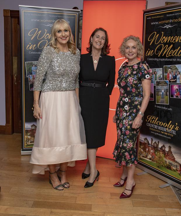 Miriam O'Callaghan, Katie Hannon and Anne O'Leary pictured at the 7th Annual Women in Media Conference held in Kilcooly's Restaurant Ballybunion in Co Kerry over the weekend . Photo By Domnick Walsh