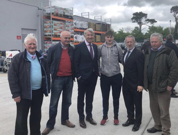 Image: Michael Lowry, third from left, poses for a photograph with Seán Kelly, second from right