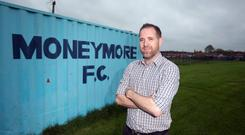Outlet for young people: Brian Fitzpatrick, senior manager of Moneymore Football Club. PHOTO: MARK CONDREN