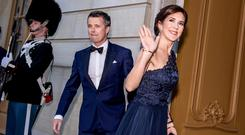 Crown Princess Mary and Crown Prince Frederik of Denmark arrive at Amalienborg Castle in Copenhagen, Denmark April 29, 2019. Ritzau Scanpix/Mads Claus Rasmussen via REUTERS