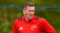 Chris Farrell, pictured at Munster training this week, says that he and his team-mates know they must find more variation. Photo: Diarmuid Greene/Sportsfile