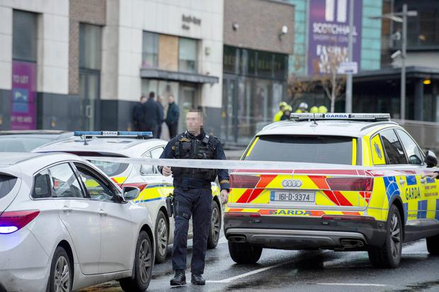 Gardai at last November's pipe bomb alert
