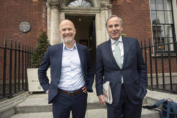 Media men: Mediahuis CEO Gert Ysebaert and chairman Thomas Leysen in Dublin. Picture: Tony Gavin