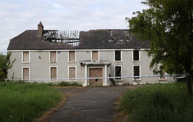 Scene: The derelict house and farmyard on the Clonee Road, Lucan, where the body of Ana Kriegel was found. Photo: Colin Keegan/Collins Dublin