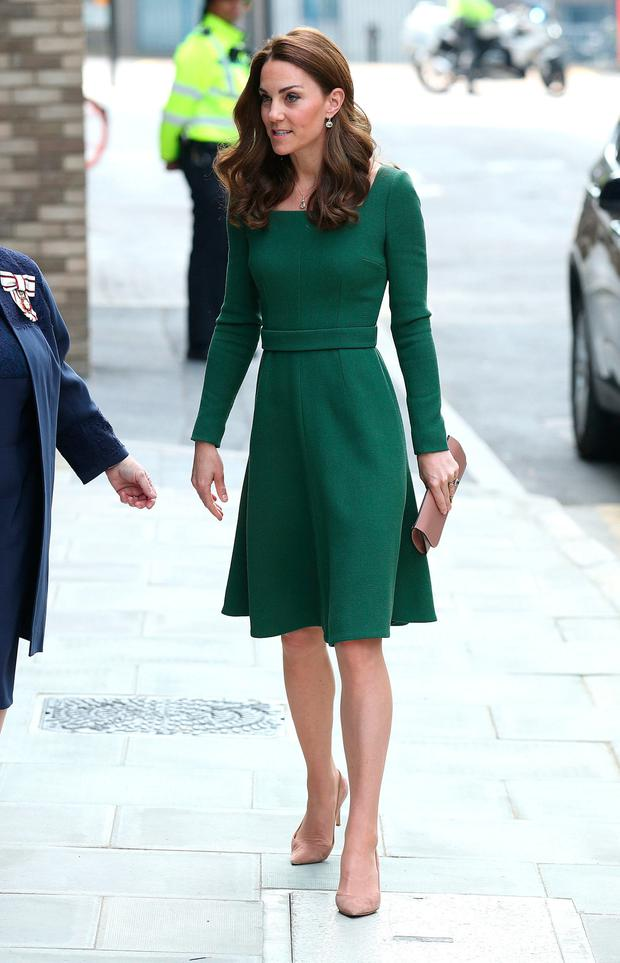 The Duchess of Cambridge arrives at the Anna Freud Centre of Excellence where she will open their new building, The Kantor Centre of Excellence