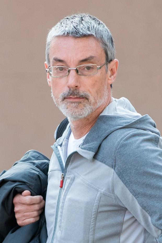 Simon Hayes arriving at Worcester Crown Court charged with perverting the course of justice by claiming not to know the identity of American pensioner Earl Roger Curry Photo credit should read: Aaron Chown/PA Wire