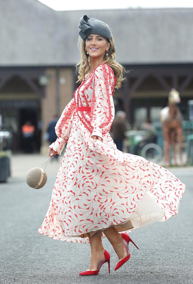 Kate Nally McCormack, Ballymahon, pictured at the second day of the Punchestown festival, Kildare. Picture credit: Damien Eagers / INM