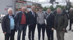 Seán Kelly posed with Michael Lowry on the campaign trail