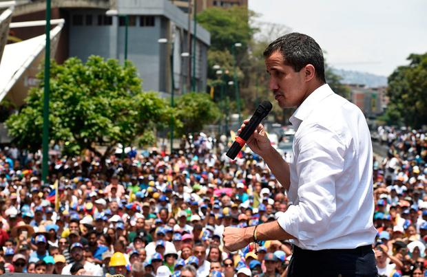 'Pressure': Juan Guaidó is trying to topple Nicolás Maduro. Photo: Getty Images