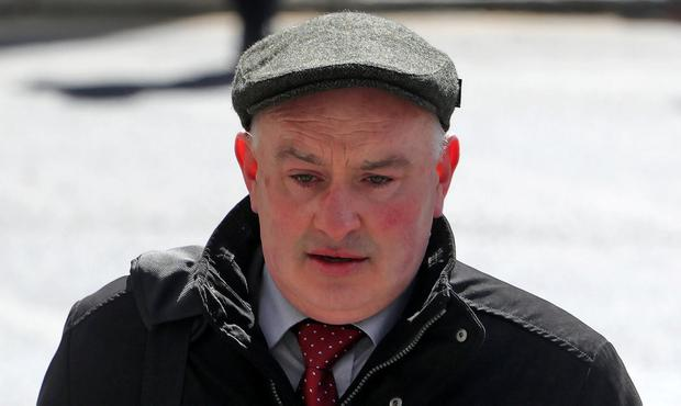 Patrick Quirke pictured arriving at the Courts of Criminal Justice where he was convicted of the murder of Bobby Ryan. Photo: Colin Keegan, Collins Dublin