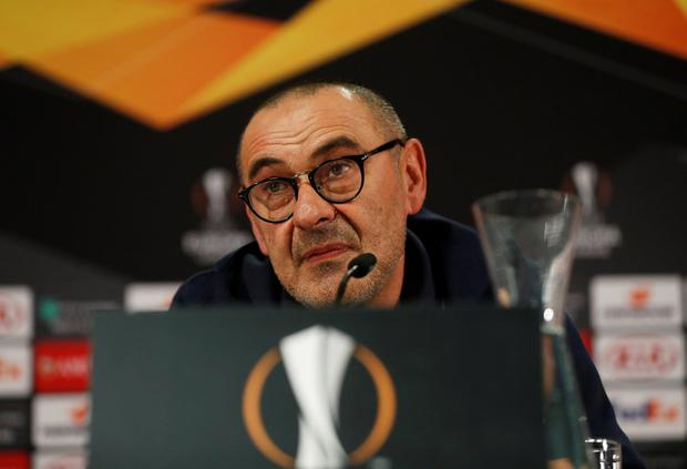 Chelsea manager Maurizio Sarri. Pic: Reuters/Lee Smith