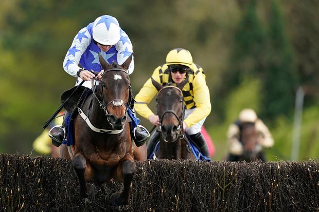 Fond farewell: Ruby Walsh drives Kemboy to victory from Al Boum Photo in the Coral Punchestown Gold Cup – his last ride as a jockey. Photo: Alan Crowhurst/Getty Images