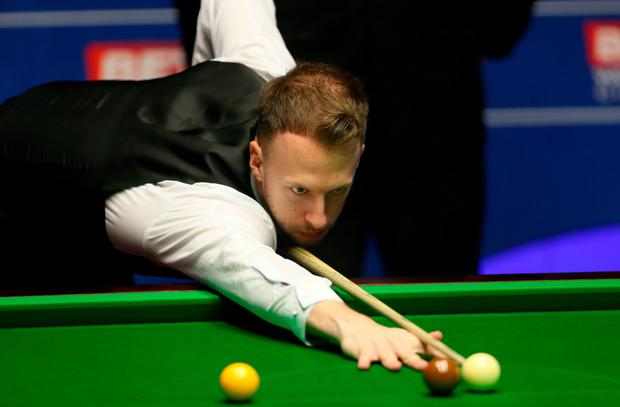 Trump, who is targeting a place in his first world final since 2011, had built on his stunning opening session by winning the first two frames and establishing a 9-1 lead. Photo: Richard Sellers/PA Wire