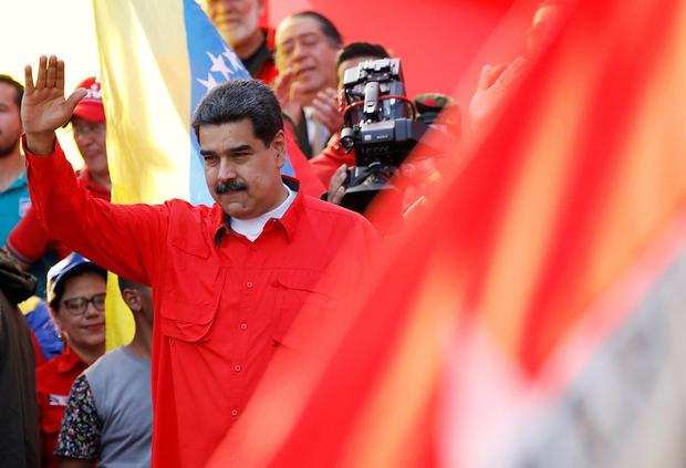 Venezuela's President Nicolas Maduro waves during a rally in support of his government and to commemorate May Day in Caracas Venezuela, May 1, 2019. REUTERS/Fausto Torrealba NO RESALES. NO ARCHIVES