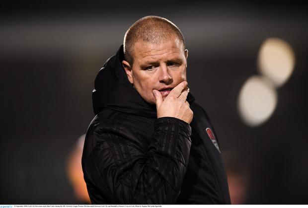 Cork City first team coach John Cotter during the SSE Airtricity League Premier Division match between Cork City and Dundalk at Turners Cross in Cork. Photo by Stephen McCarthy/Sportsfile