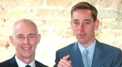 Good news for Ray D'Arcy and Ryan Tubridy in the latest JNLRs - Picture credit; Damien Eagers