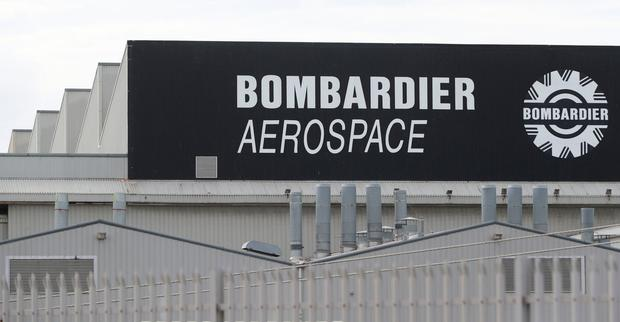 For sale: The Bombardier plant in Belfast. Photo: PA