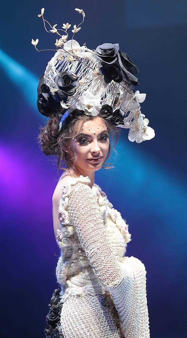 Passion for fashion: Grace Kearney of Scoil Chríost Rí in 'The Truth Lies Within'. Photo: Brian McEvoy