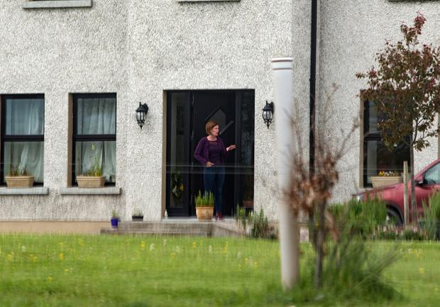 Mary Lowry at her home yesterday