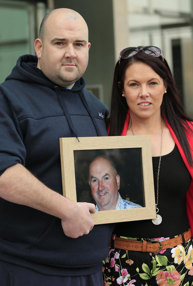 Justice: Robert and Michelle Ryan outside court after Quirke was found guilty