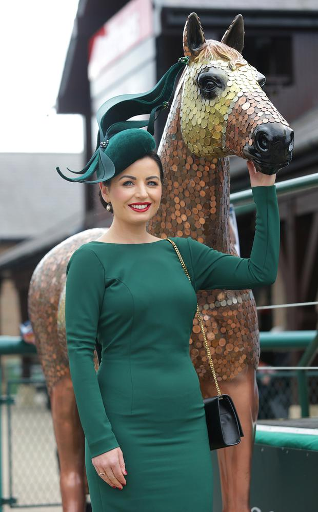 Dressed to impress: Best Dressed Lady competition winner Sarah Cass. Photo: INM