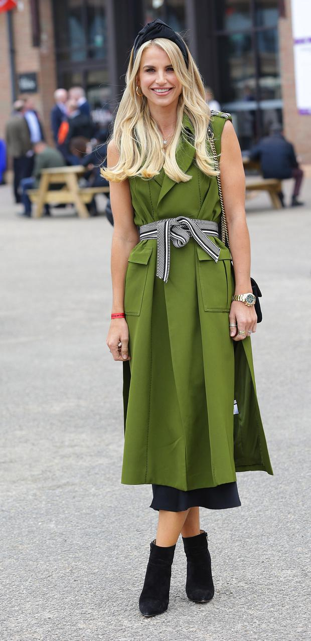 Vogue Williams pictured at the third day of the Punchestown festival, Kildare. Picture credit: Damien Eagers / INM
