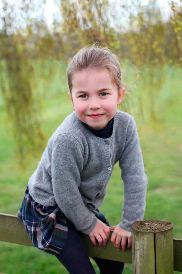 Princess Charlotte taken by her mother, Catherine, Duchess of Cambridge, at their home in Norfolk in April to mark her fourth birthday on Thursday May 2nd, 2019. (Photo by the Duchess of Cambridge via Getty Images)