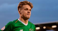 Matt Everitt of Republic of Ireland following the 2019 UEFA European Under-17 Championships Group A match between Republic of Ireland and Greece at Tallaght Stadium in Dublin. Photo by Stephen McCarthy/Sportsfile