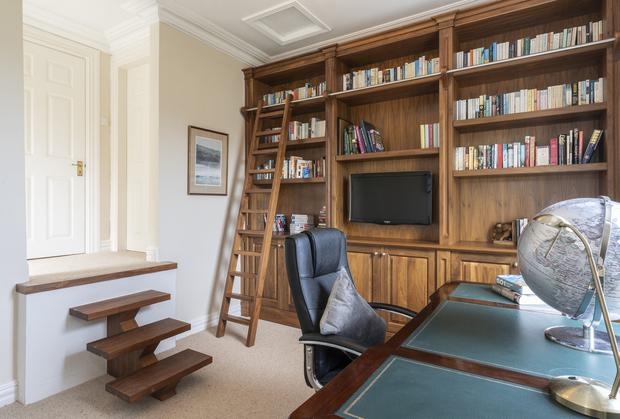 The study used to be the maid's room when it was first built in 1889