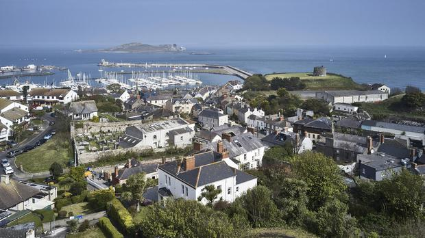 The view of Howth Harbour, Ireland's Eye and Lambay Island from the property