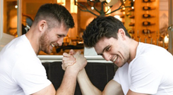 Ross Byrne (left) with his brother Harry (right). Picture by Anthony Woods.