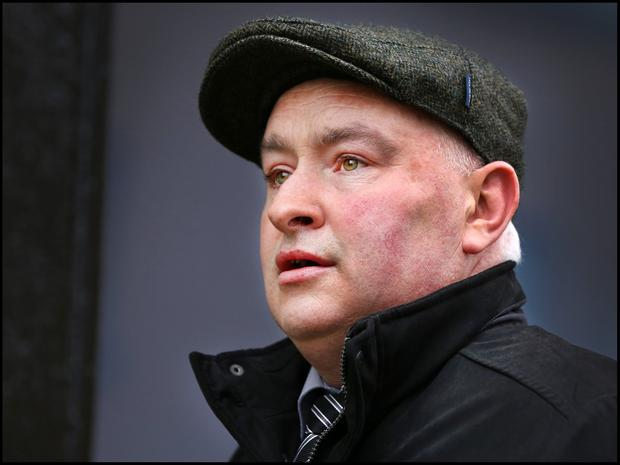 Patrick Quirke arriving at the Criminal Courts of Justice. Picture: Steve Humphreys