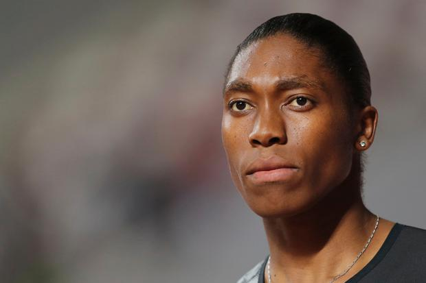 South Africa's Caster Semenya competes in the women's 800-meter final during the Diamond League in Doha, Qatar, Friday, May 3, 2019. (AP Photo/Kamran Jebreili)