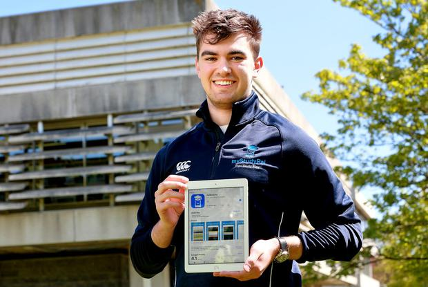 Apt app: Mark Nealon is developing MyStudyPal to help students. Photo: Frank McGrath