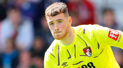 Mark Travers impressed in keeping a clean sheet on his Bournemouth debut. Photo: Getty Images