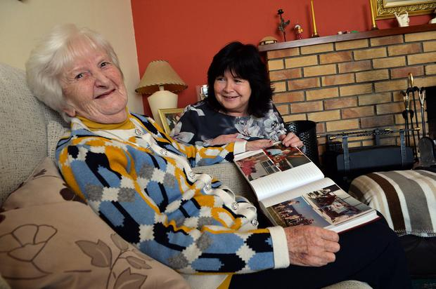 'Isolating': Margaret Healy, who gave up her job in childcare to care for her mother Susan Fagan. Photo: Ray Ryan