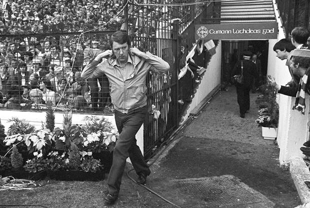 'Brilliant': Then Offaly manager Eugene McGee at the All-Ireland final against Kerry at Croke Park in 1982. Photo: Ray McManus/SPORTSFILE