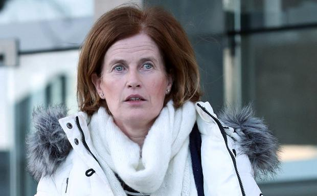 Evidence: Mary Lowry outside court in January. Photo: Collins Courts
