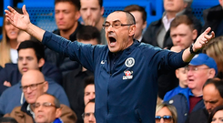 Chelsea manager Maurizio Sarri. Photo: Getty Images