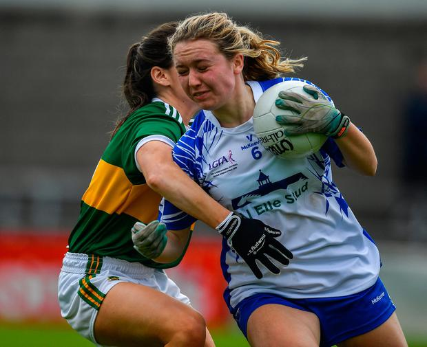Aishling O'Connell of Kerry in action against Sarah Houlihan of Kerry. Photo by Brendan Moran/Sportsfile