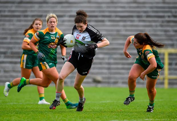 Emma Kevany of Sligo in action against Shauna Ennis of Meath. Photo by Oliver McVeigh/Sportsfile