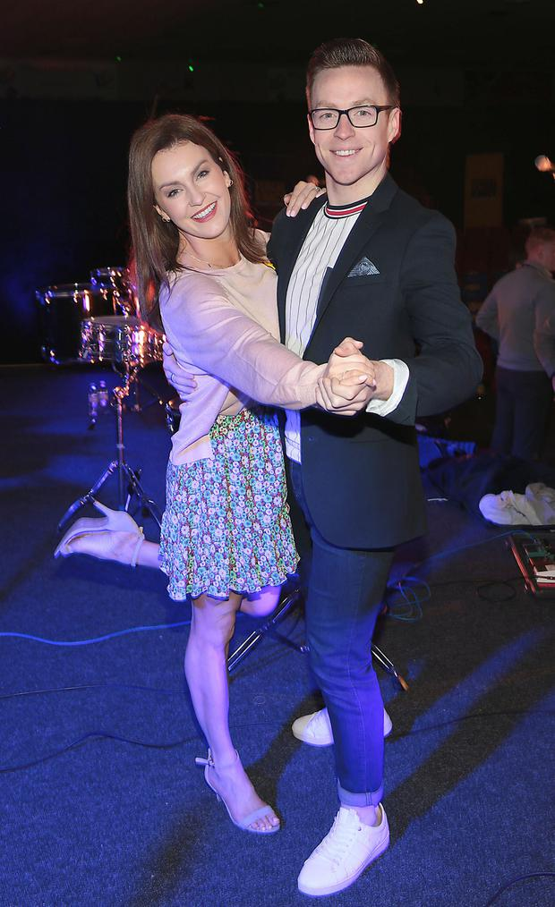 Mairead Ronan and John Nolan at Today FM's Be A Dancer For Cancer event. Pic: Brian McEvoy