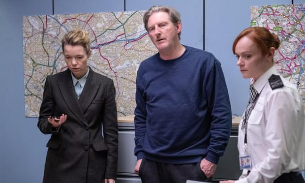 Ted (Adrian Dunbar), Carmichael (Anna Maxwell Martin) and Tranter (Natalie Gavin). PIC: BBC/World Productions