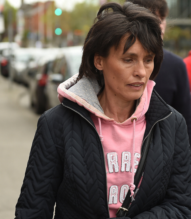 Ms Imelda Quirke, wife of Patrick Quirke who was sentenced to life in prison after being convicted of the murder of Bobby Ryan, is seen walking to Mountjoy Prison on Dublin's North Circular Road. Picture: Philip Fitzpatrick.