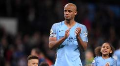 Vincent Kompany was in tears at the final whistle as his goal fired Manchester City towards the Premier League title