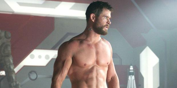 Out of this world: Muscle man Chris Hemsworth as superhero Thor