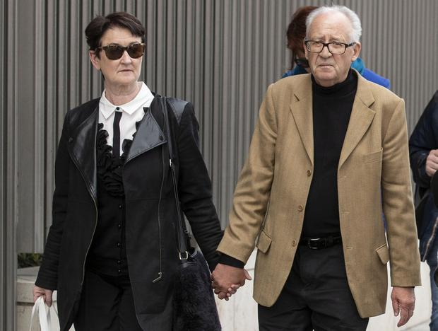 Attending trial: Geraldine and Patrick Kriegel, parents of Ana Kriegel leave court. Photo: Collins