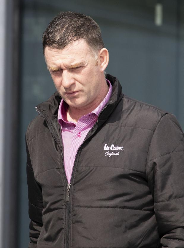 'Long-running dispute': Farmer Hugh McBride, pictured, has been charged with attacking his neighbour Gerard McGarvey, fracturing his cheekbone. PHOTOS: NORTH WEST NEWSPIX