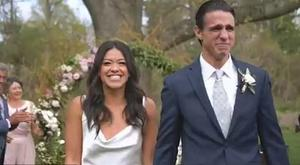 Gina Rodriguez shared an emotional wedding video from her big day